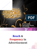 Reach and Frequency Presentation # 3
