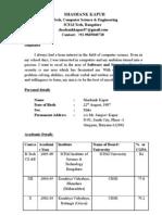 Shashanks Resume