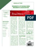 RORP Newlsletter December 2013