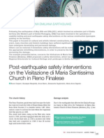 Post Earthquake Safety Interventions
