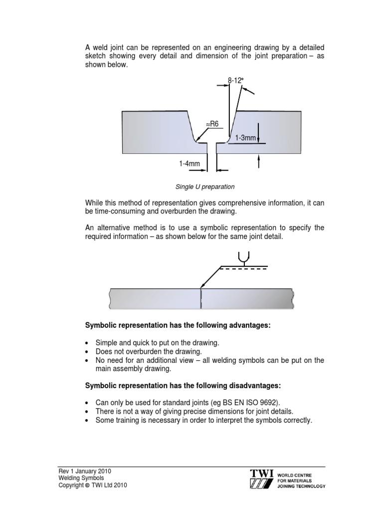 Welding Symbols Used In Engineering Drawing Diagram 9 Metalworking