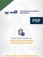 IAO fully accredits Indian Institute of Aeronautical Engineering