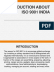 Introduction About ISO 9001 India