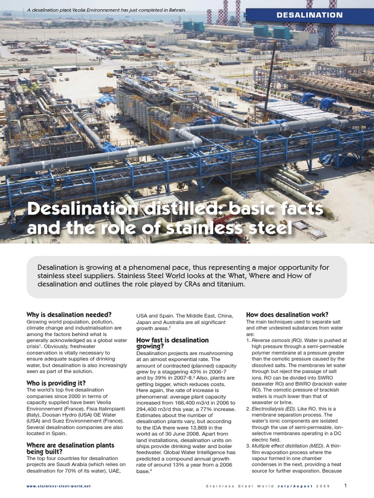 why is desalination necessary