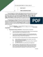 Home Quarantine Order Novelflu Filled in 4-30-09