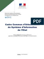 Cadre Commun d'Urbanisation Du SI de l'Etat v1.0