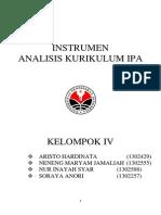 INSTRUMEN ANALISIS KURIKULUM