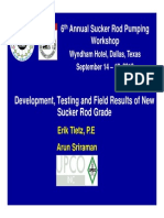 5 --- Presentation --- UPCO --- Development, Testing, And Field Results of New Sucker Rod Grade
