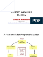 6 Steps 4 Standards Program Evaluation