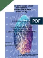 case study on subacute subdural hematoma