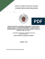 Tejada G. - Instituciones, Soc. y Rel. Tesalia hasta fin Antigüedad