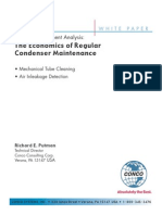 Return Investment Analysis Economics Regular Condenser Maintenance