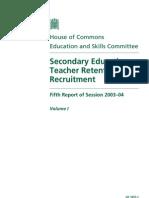 Teacher Retention and Recruitment