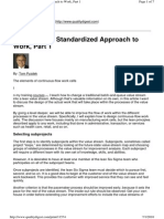 Developing Standardized Approach to Work Part1 - Pyzdek