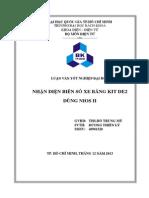 NHẬN DIỆN BIỂN SỐ XE BẰNG KIT DE2  DÙNG NIOS II