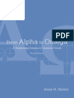 From Alpha to Omega - A Beginning Course in Classical Greek 4Ed