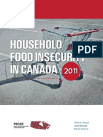 Household Food Insecurity in Canada 2011