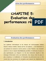 Chapitre v Evaluation Performances Reseau