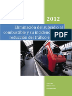 Eliminación del subsidio al combustible y su incidencia en la reducción del tráfico en Quito