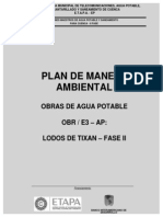 Plan de Manejo Ambiental - Lodos de Tixan Fase II