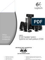 Logitech X-540 Owners_Manual