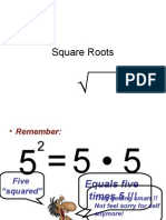 2-7 Square Roots & Real Numbers