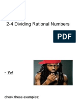 2-4 Dividing Rational Numbers