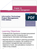 Chapter 12 Project Procurement Management