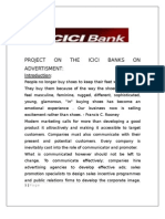 Project on the Icici Banks on Advertisment