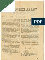 1963 Determinig Plant Contrallability