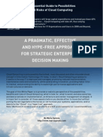 An Essential Guide to Possibilities and Risks of Cloud Computing -- A Pragmatic Effective and Hype Free Approach for Strategic Enterprise Decision Making