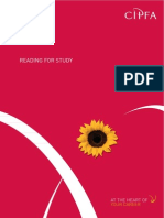 Reading for Study - CIPFA