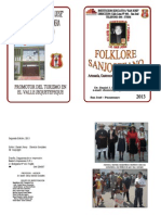 Folleto de Folklore de San Jose 2013
