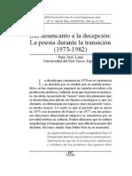 La poesía española durante la transición