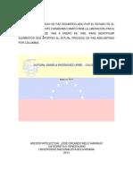 (FMLN) Y LAS FARC DE COLOMBIA - PAZ