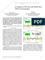 An Overview and Analysis of Private and Public Key DNA Cryptography