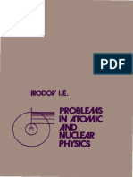 Irodov Problems in Atomic and Nuclear Physics