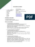 Daftar Riwayat Hidup M David Zainuri 2009