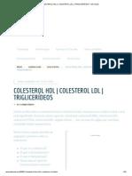 COLESTEROL HDL _ COLESTEROL LDL _ TRIGLICERÍDEOS - MD