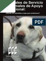 Animales de Servivio y Apoyo Emocional