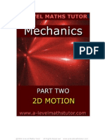 E-Book,Mechanics,Part Two,Two Dimensional Motion,mechanics revision notes from A-level Maths Tutor