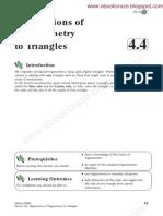 Applications of Trigonometry to Triangles
