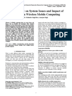 A Case Study on System Issues and Impact of Mobility in Wireless Mobile Computing