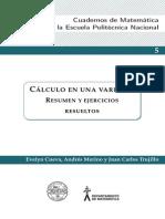 Cálculo en una variable, resumen y ejercicios resueltos