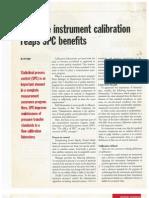 1995 Pressure Instruments Calibration Reaps SPC Benefits