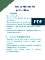 Risques et Moyens de prévention