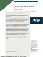 A Risk Prediction Score for Kidney Failure or Mortality in Rhabdomyolysis