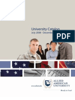 Allied American University Online Course Catalog