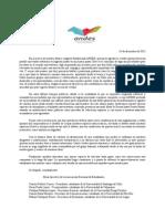 Carta Mesa Directiva_ motivo elecciones y constitución de ANDES