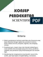 Konsep Pendekatan Scientific